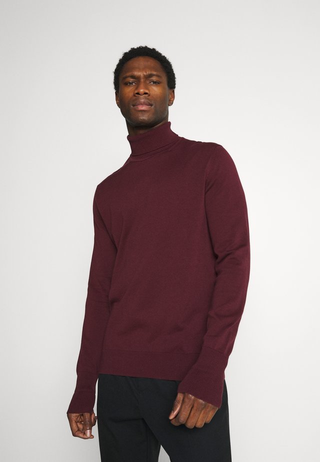 SIGNATURE ROLL NECK - Stickad tröja - port