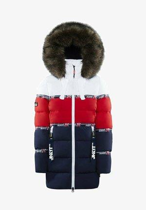STREET  - Down coat - white/red/navy