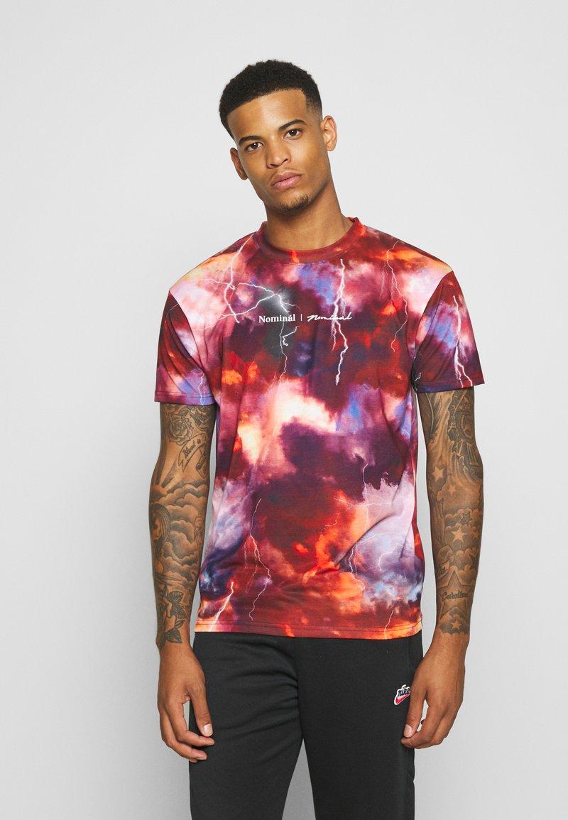 Nominal - THUNDER  - T-shirts print - red