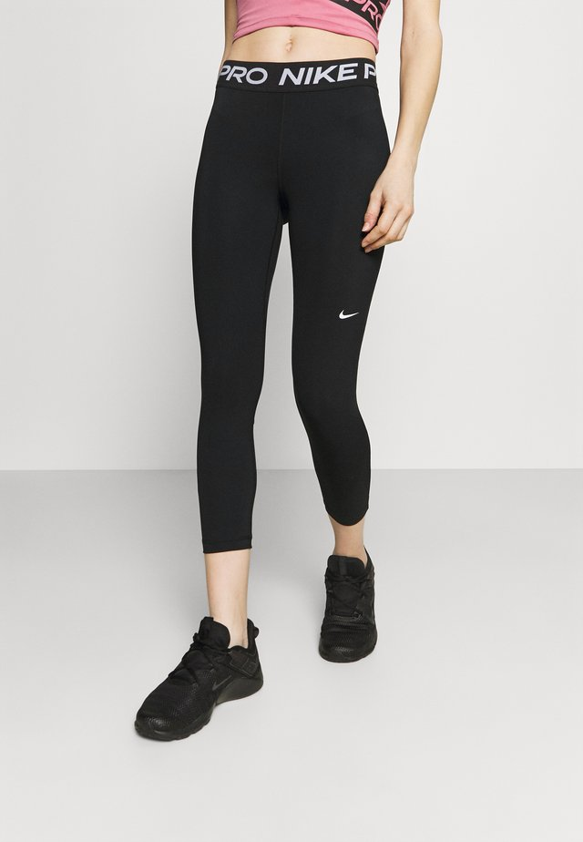 CROP - Tights - black/white