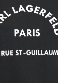 KARL LAGERFELD - ADDRESS LOGO TEE - T-shirt z nadrukiem - black - 6