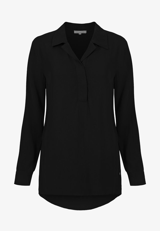 TIPO - Button-down blouse - black