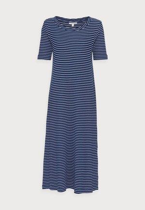 WAFFLE DRES - Jersey dress - dark blue