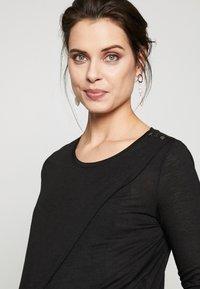 New Look Maternity - WRAP NURSING 2 PACK - Long sleeved top - black/white - 3