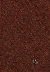 TOM TAILOR DENIM - COSY VNECK - Jumper - rust orange melange - 2