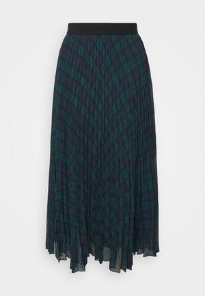 ICON TARTAN MIDI SKIRT - A-line skirt - black/green