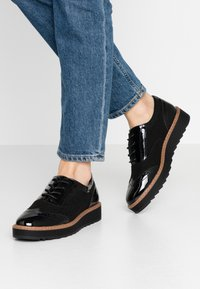 Anna Field Wide Fit - WIDE FIT - Snøresko - black - 0