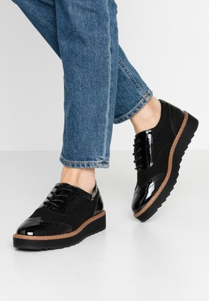 WIDE FIT - Derbies - black