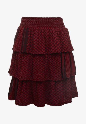 BECKY - Áčková sukně - blackberry