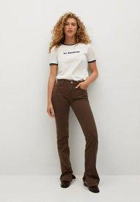 Mango - Straight leg jeans - brown - 1