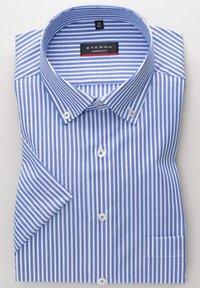 Eterna - MODERN FIT - Shirt - blau/weiß - 5