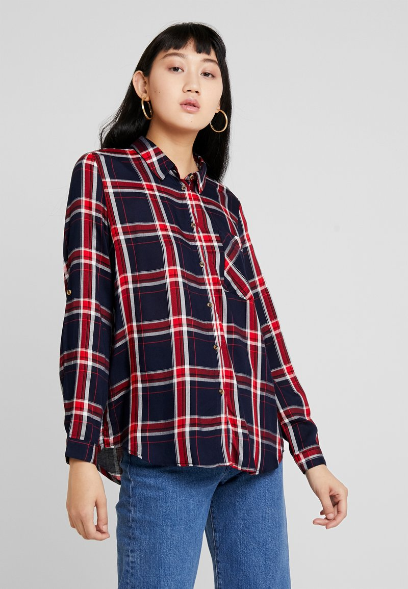 ONLY - ONLLONDON CHECK - Button-down blouse - night sky/red