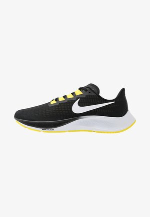 AIR ZOOM PEGASUS 37 - Neutral running shoes - black/white/opti yellow
