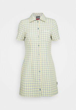 GINGHAM SHIRT DRESS - Shirt dress - blue/yellow