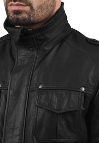 Solid - CAMASH - Leather jacket - black - 2