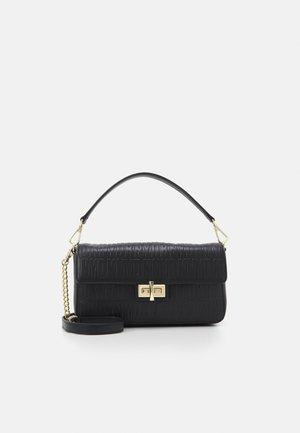 PERLA FLAP - Handbag - black/gold