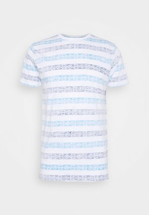 REEF - Print T-shirt - optic white/navy/cyan