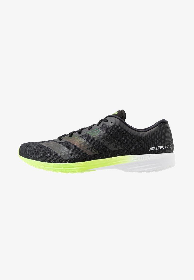 adidas Performance - ADIZERO BOUNCE SPORTS RUNNING SHOES - Zapatillas de competición - core black/signal green