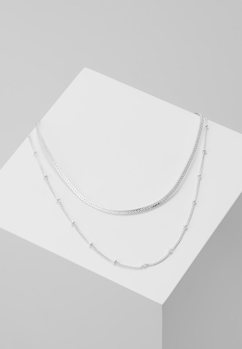 Orelia - SATELLITE AND FLAT CURB CHAIN 2 PACK - Ketting - silver-coloured