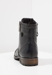 Pepe Jeans - MELTING ZIPPER NEW - Lace-up ankle boots - black - 3
