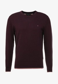Tommy Hilfiger - TIPPED CREW NECK - Stickad tröja - red - 3