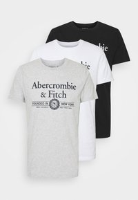 Abercrombie & Fitch - 3 PACK - T-shirt med print - white - 5