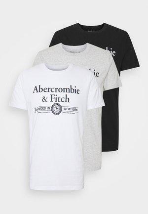 3 PACK - T-shirt med print - white