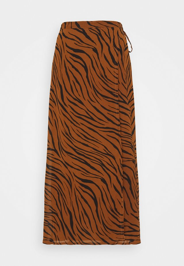 JANINE SKIRT - Áčková sukně - dark brown