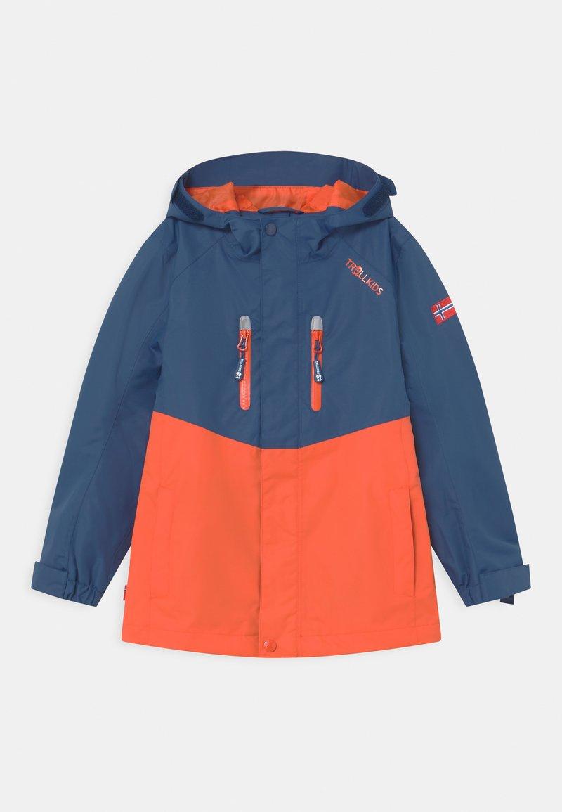 TrollKids - NUSFJORD UNISEX - Hardshell jacket - mystic blue/orange