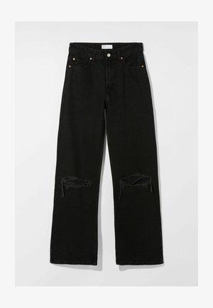 90s WIDE LEG - Flared Jeans - black