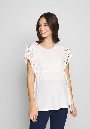 MANICHE SANGALLO - T-shirt con stampa - white