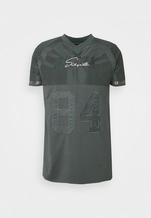SIKSILK MARBEL STRETCH SPORTS  - Print T-shirt - dark grey