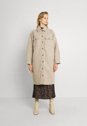 ENAMELIE - Classic coat - dark beige melange