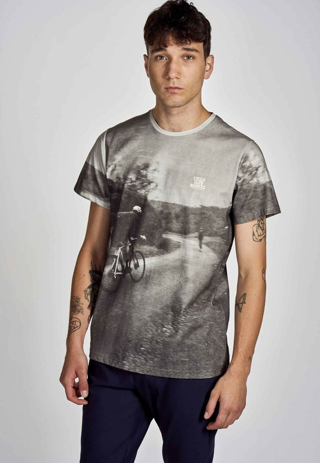 Print T-shirt - dark grey