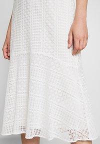 Lauren Ralph Lauren - MULTISTITCH DRESS - Day dress - matte ivory - 4