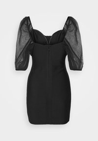 Missguided Petite - RUCHED MILKMAID BANDAGE MINI DRESS - Cocktail dress / Party dress - black - 1