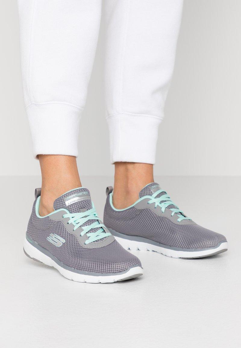 Skechers Sport - FLEX APPEAL 3.0 - Trainers - gray/mint