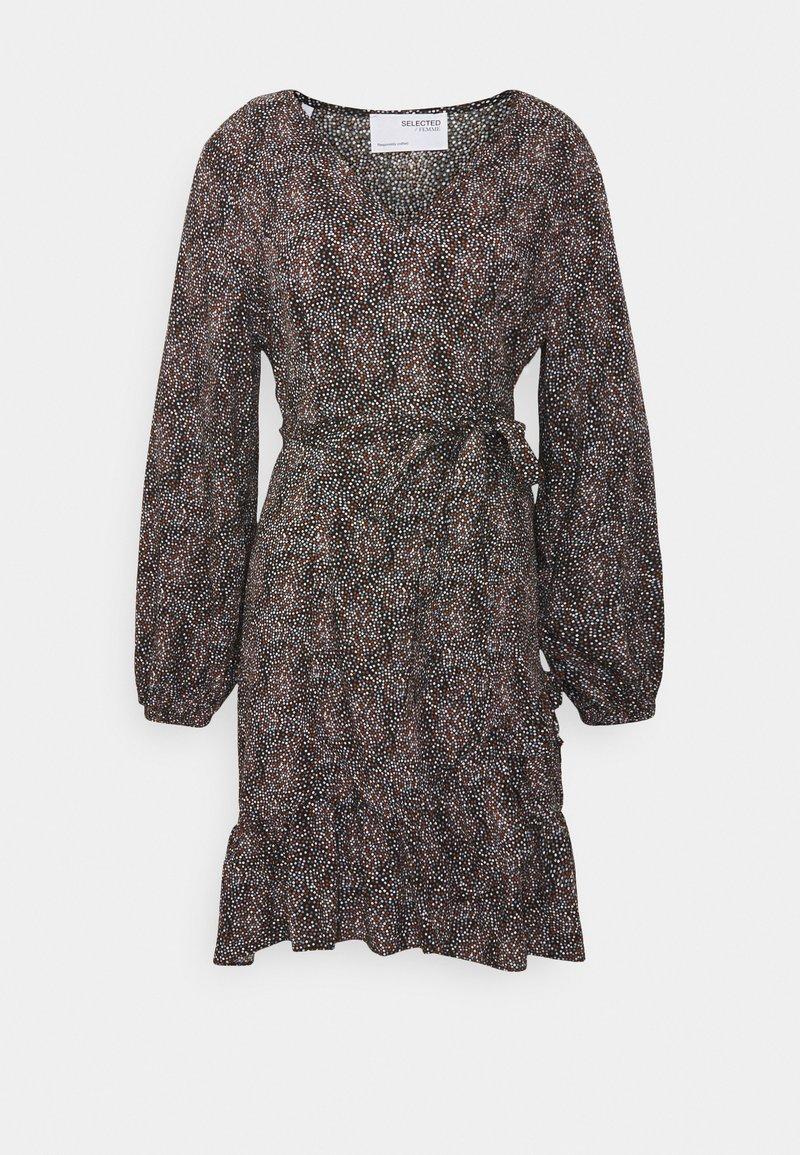 Selected Femme Petite - SLFMABEL SHORT DRESS - Denní šaty - black
