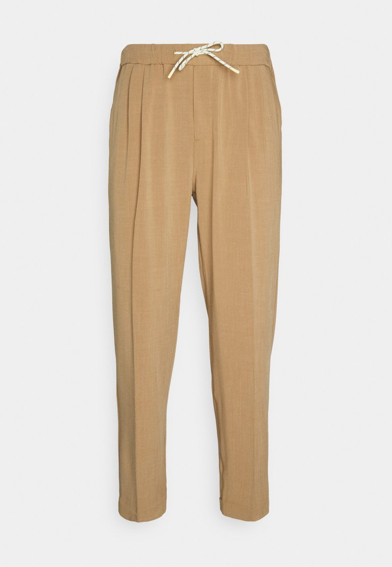 Scotch & Soda - SEASONAL FIT LIGHTWEIGHT CHINO WITH ELASTICATED WAISTBAND - Trousers - camel melange