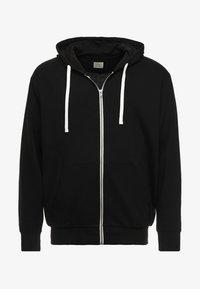 Jack & Jones - JJEHOLMEN  ZIP HOOD PLUS - Zip-up hoodie - black - 3