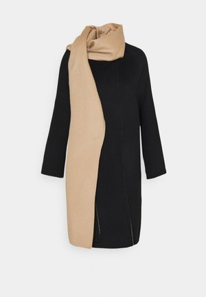 SCARF COAT LUXE NEW - Classic coat - black/palomino