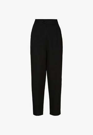 HOSE HIGH WAIST - Trousers - black