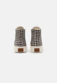 Good News - PALM CHECK - Baskets montantes - black/white - 2