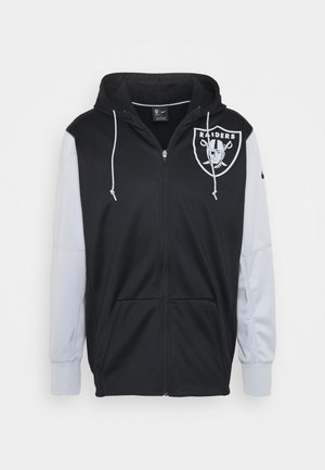 NFL OAKLAND RAIDERS LEFT CHEST MASCOT FULL-ZIP THERMA HOODI - Club wear - black/field silver