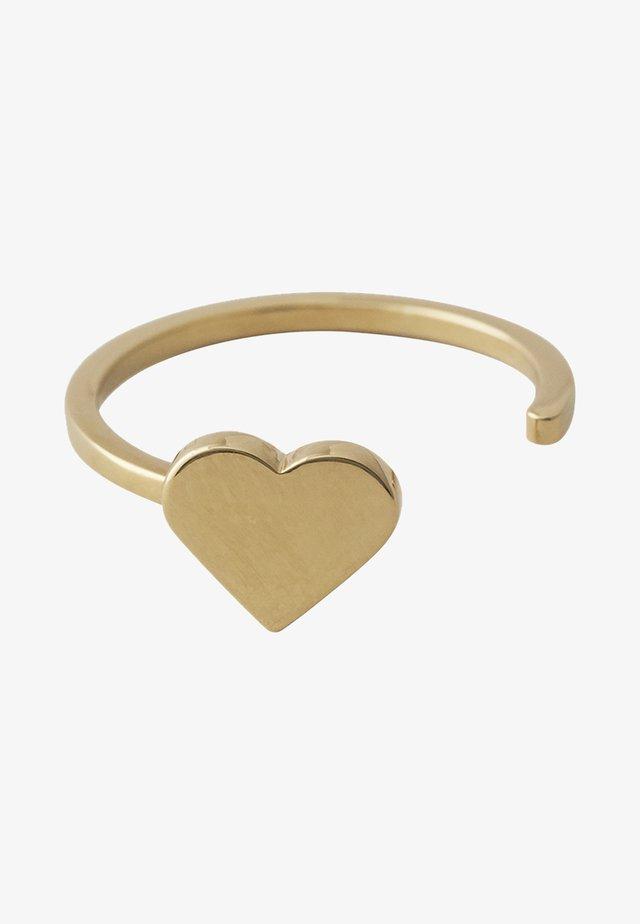 HEART RING - Ringe - gold