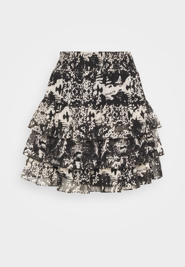 RUFFLE SKIRT - Minihame - black