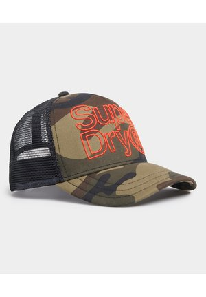 SUPERDRY LINEMAN TRUCKER CAP - Caps - green camo