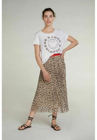 Oui - A-line skirt - red white - 1