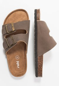 Rubi Shoes by Cotton On - REX DOUBLE BUCKLE SLIDE - Slippers - brown - 3