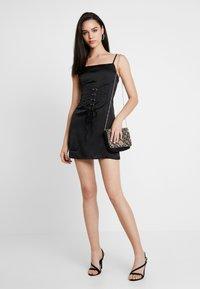 Missguided - CAMI CORSET WAIST DRESS - Day dress - black - 1